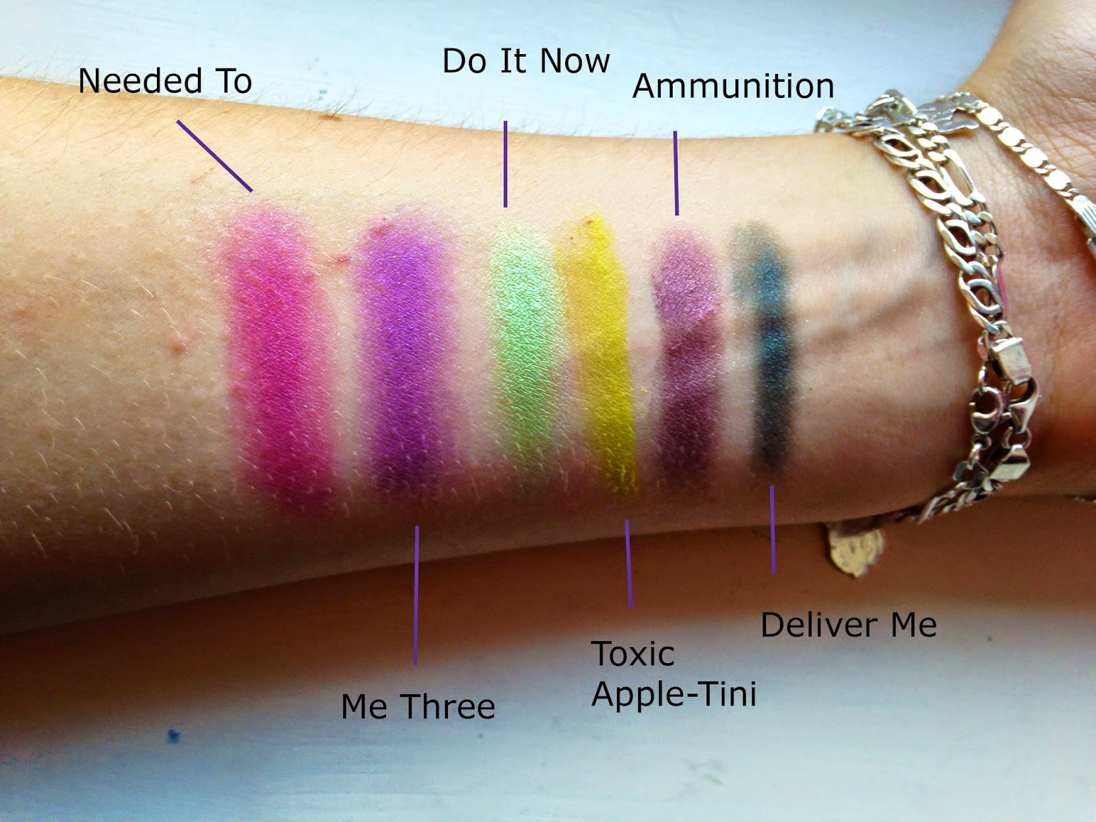 Makeup Revolution Colour Chaos Palette Swatches