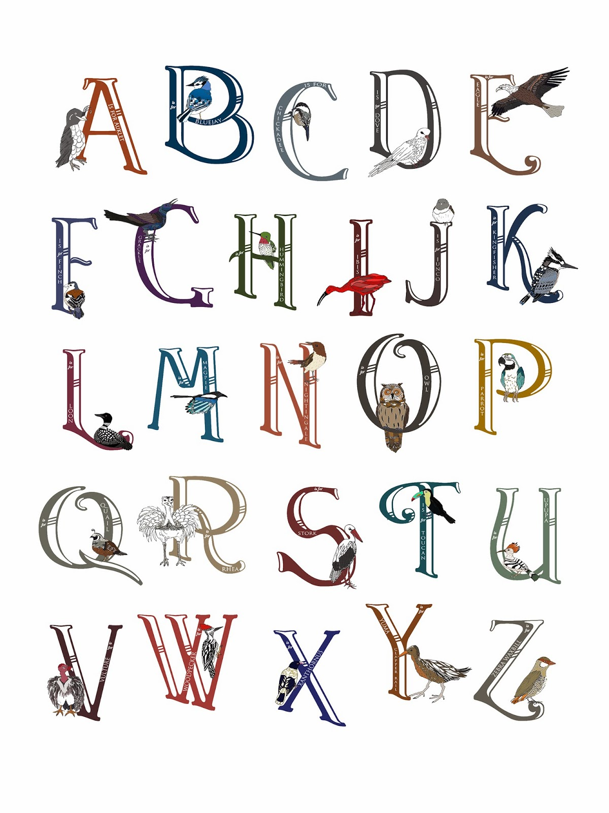 Pretty Letters Alphabet On pretty colored letters.