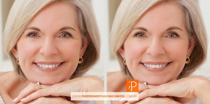Como tirar Rugas e Olheiras no Photoshop - Antes e Depois