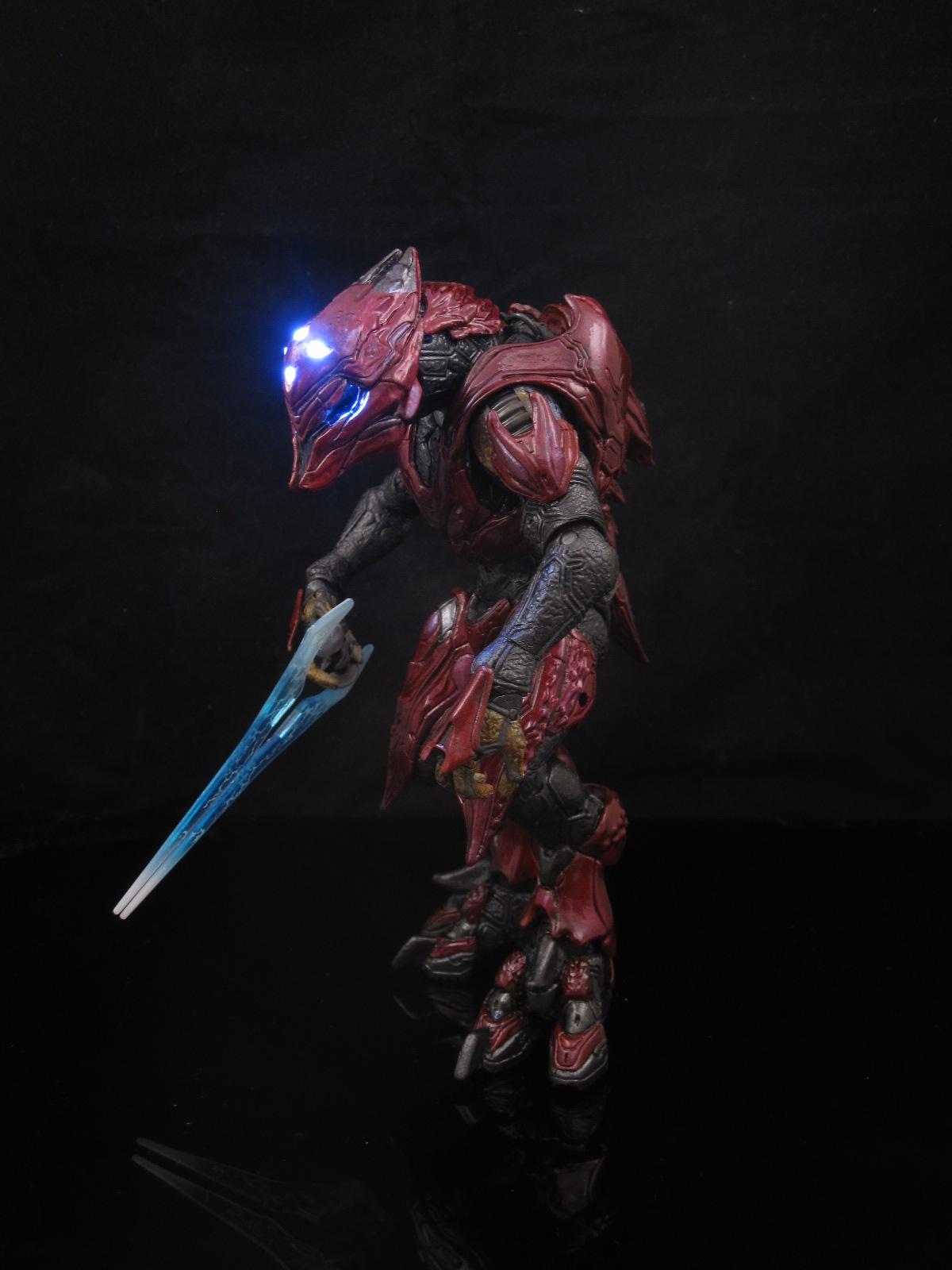 Halo 4 elite zealot custom mcfarlane action figure toy for Custom elite com