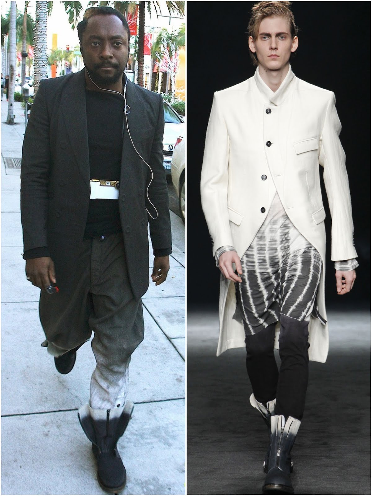00O00 London Menswear Blog Will.i.am's Ann Demeulemeester boots and I.AM+ iPhone camera