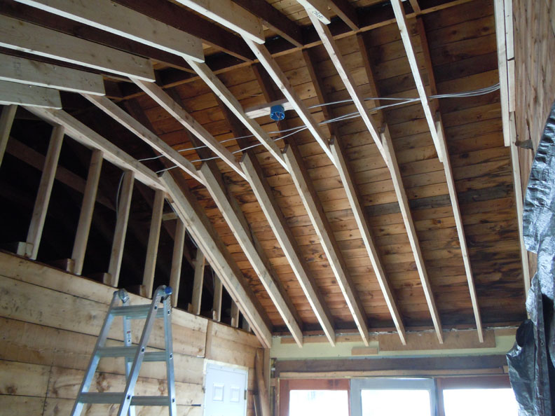 Fix the last of the framing projects for Cathedral ceiling trusses