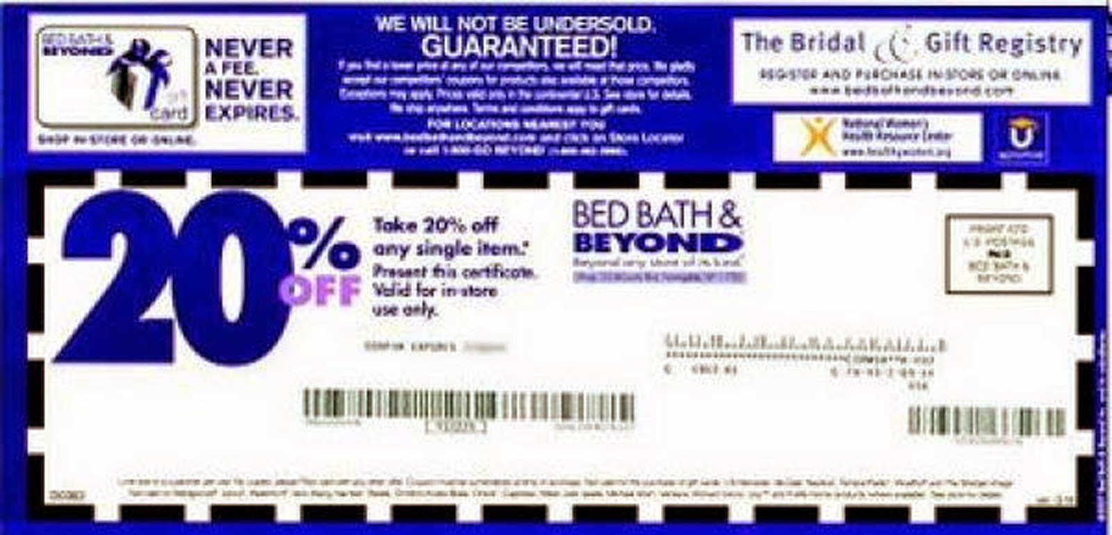Bed bath and beyond coupon printable march 2018