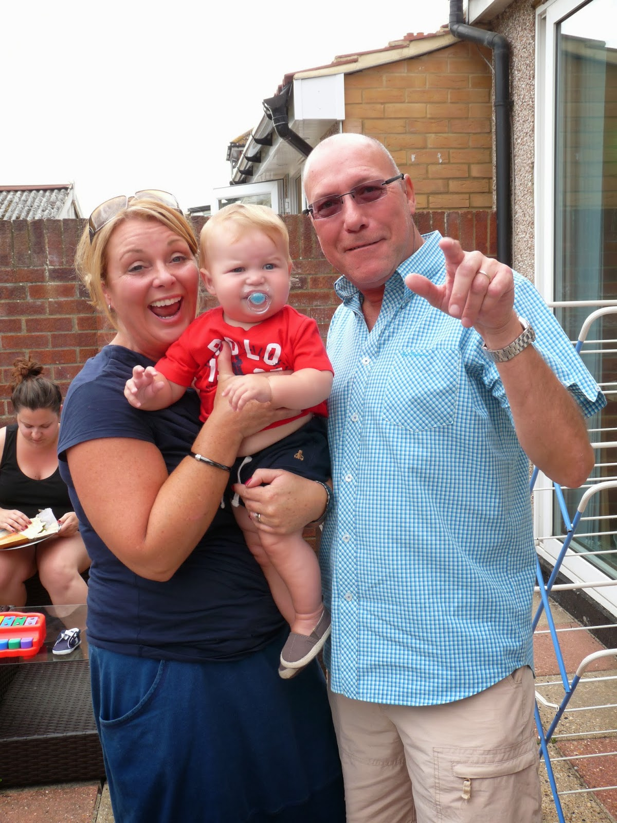 Freddie with Great Auntie and Uncle