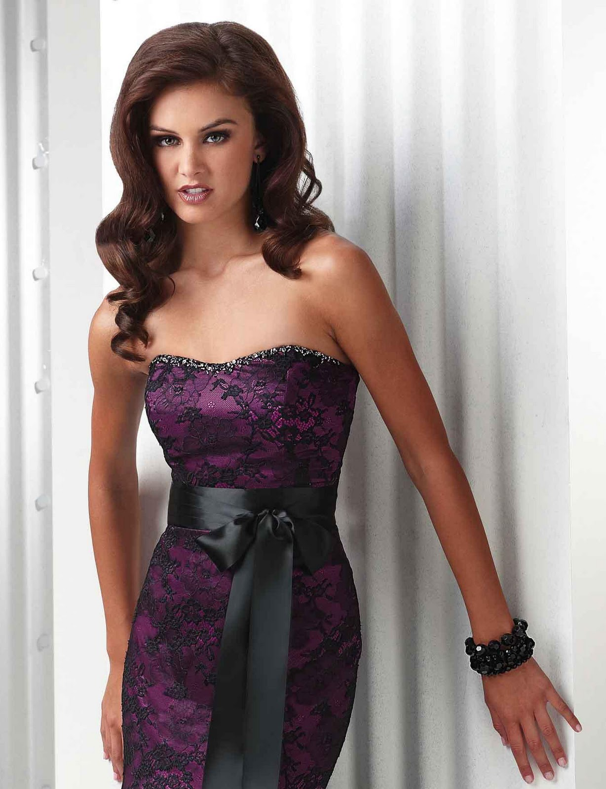 Purple and Black Wedding Dress Designs Ideas - Wedding Dress