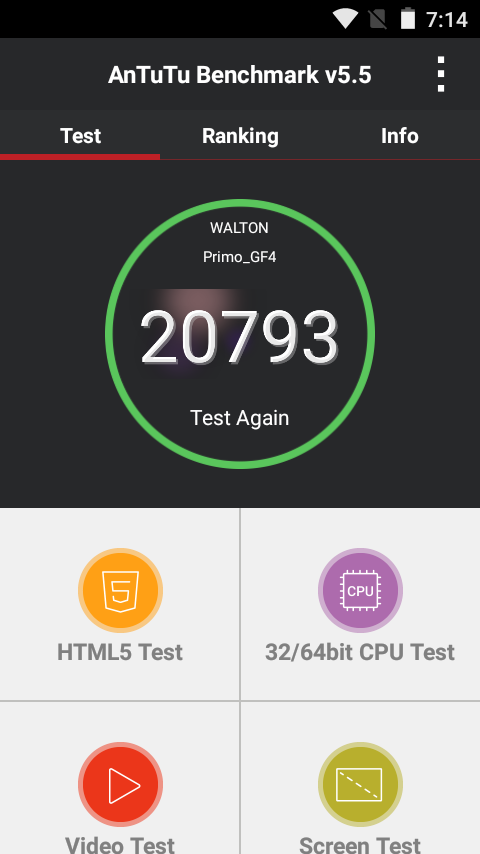 Primo GF4 review Antutu Benchmark Score