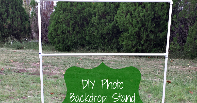 how to make a photo backdrop stand