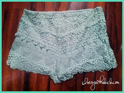 Mint Lace Shorts Urban Outfitters