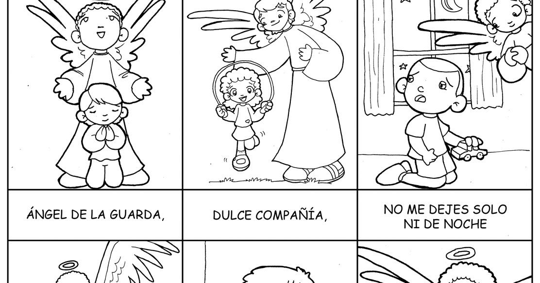Encantador ángel De La Guarda Para Colorear Colorear Ideas - Dibujos ...