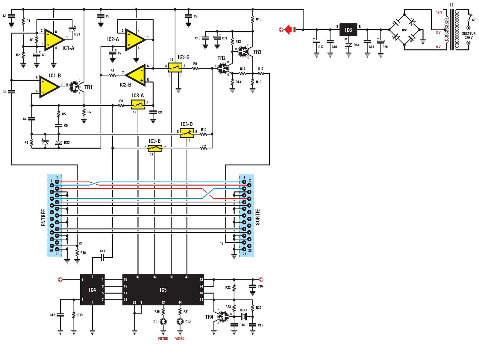 Schema electronique net un filtre vid o hyper efficace - Nettoyer circuit imprime ...