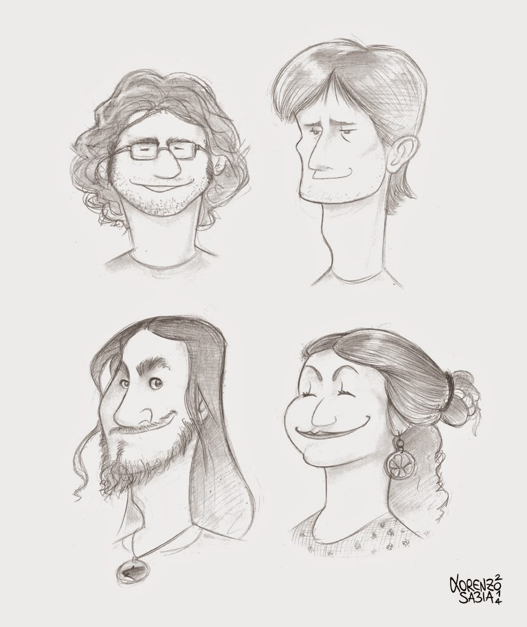 Nemo Academy caricatures by Lorenzo Sabia