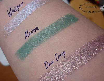 BFTE Whisper Meissa Dew Drop swatches Beauty from the earth