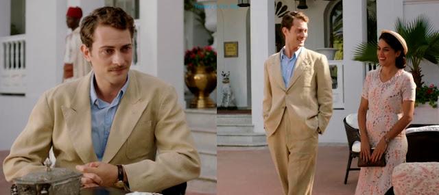 Marcus Logan traje sastre de lino béis. El tiempo entre costuras. Capítulo 4.