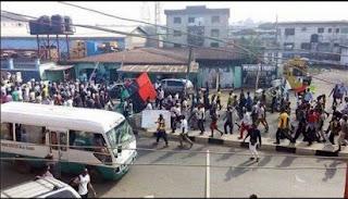 Biafra protest in Umuahia