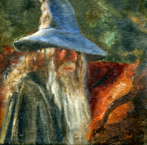 Gandalf oil painting