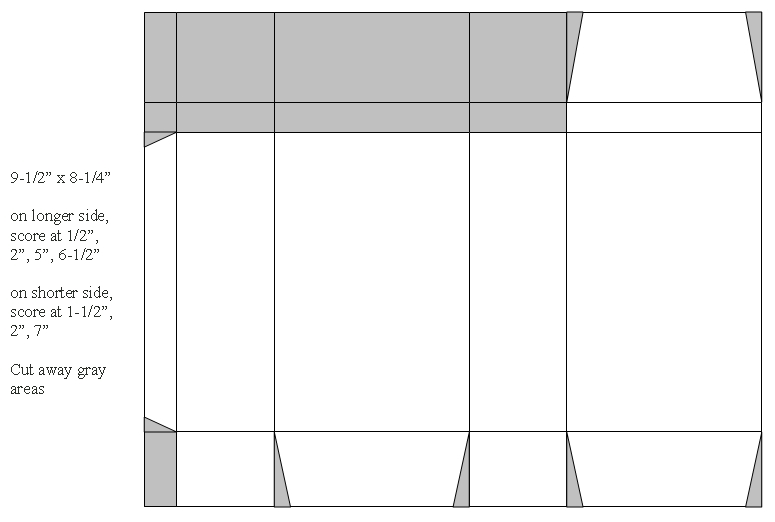 Cut The Card Stock As Indicated In Diagram Below Gray Areas Are To Be Out For A Larger View Click On Picture