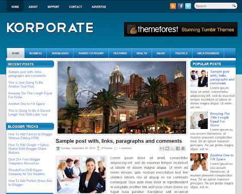Korporate Blogger Theme