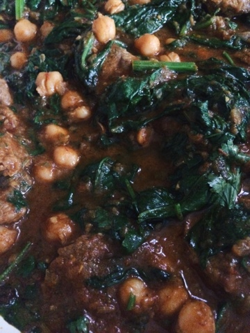 lamb chickpea spinach curry recipe