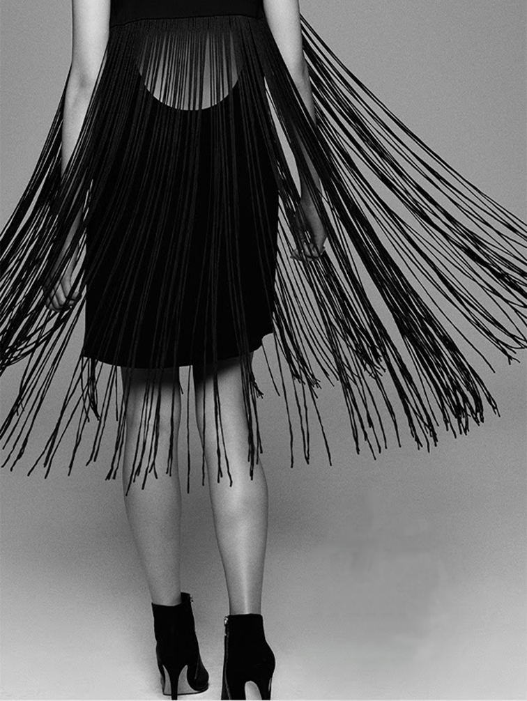 Club Monaco fringe dress