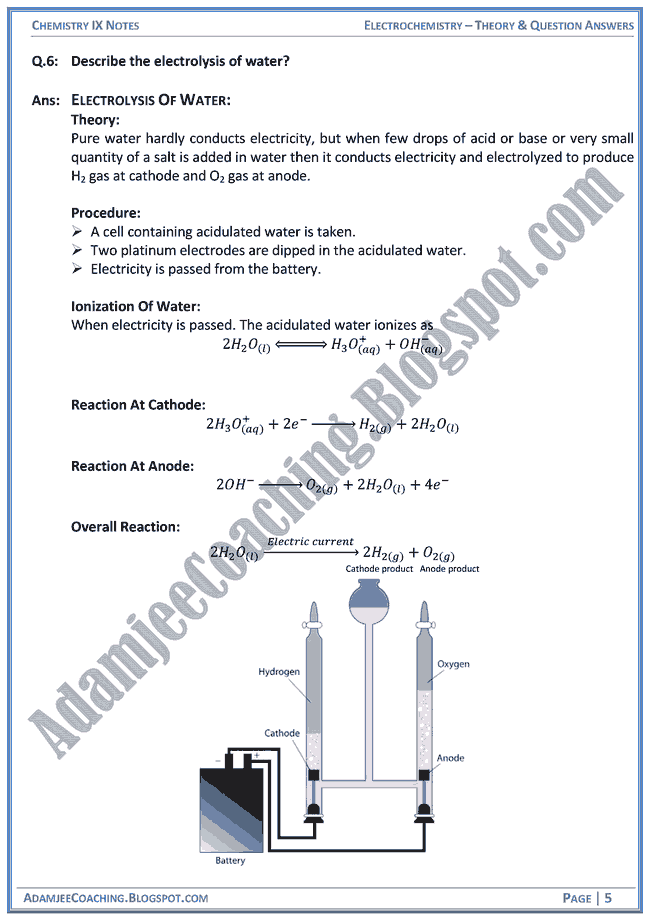 electrochemistry notes Electrochemistry notes 1 basic electrochemistry 2 the charge and current •electrochemistry studies the processes which involve charge •the charge is a source of electric field element of charge: 1602 0-19 c.