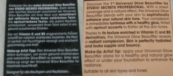 Loreal Paris Universal Glow Beuaitifier - Studio Secrets - Anwendung / Application