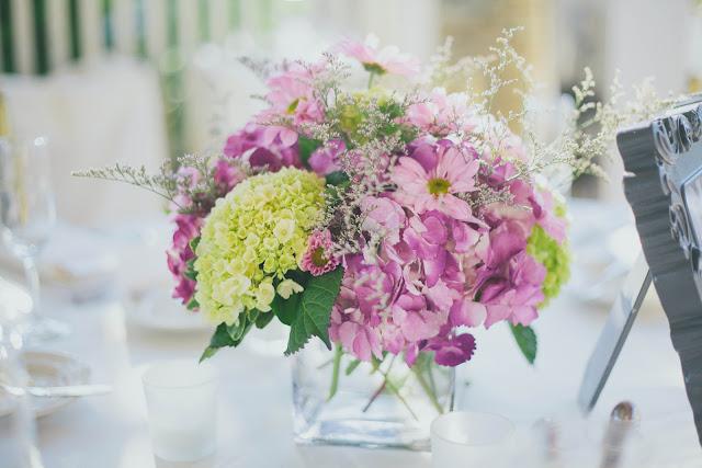 Carlone's Florist. Hydrangea arrangement.