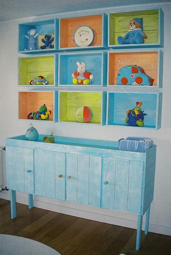 El rinc n de los trastos decorar con cajones for Muebles para preescolar