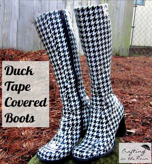Houndstooth Boots via Crafting in the Rain