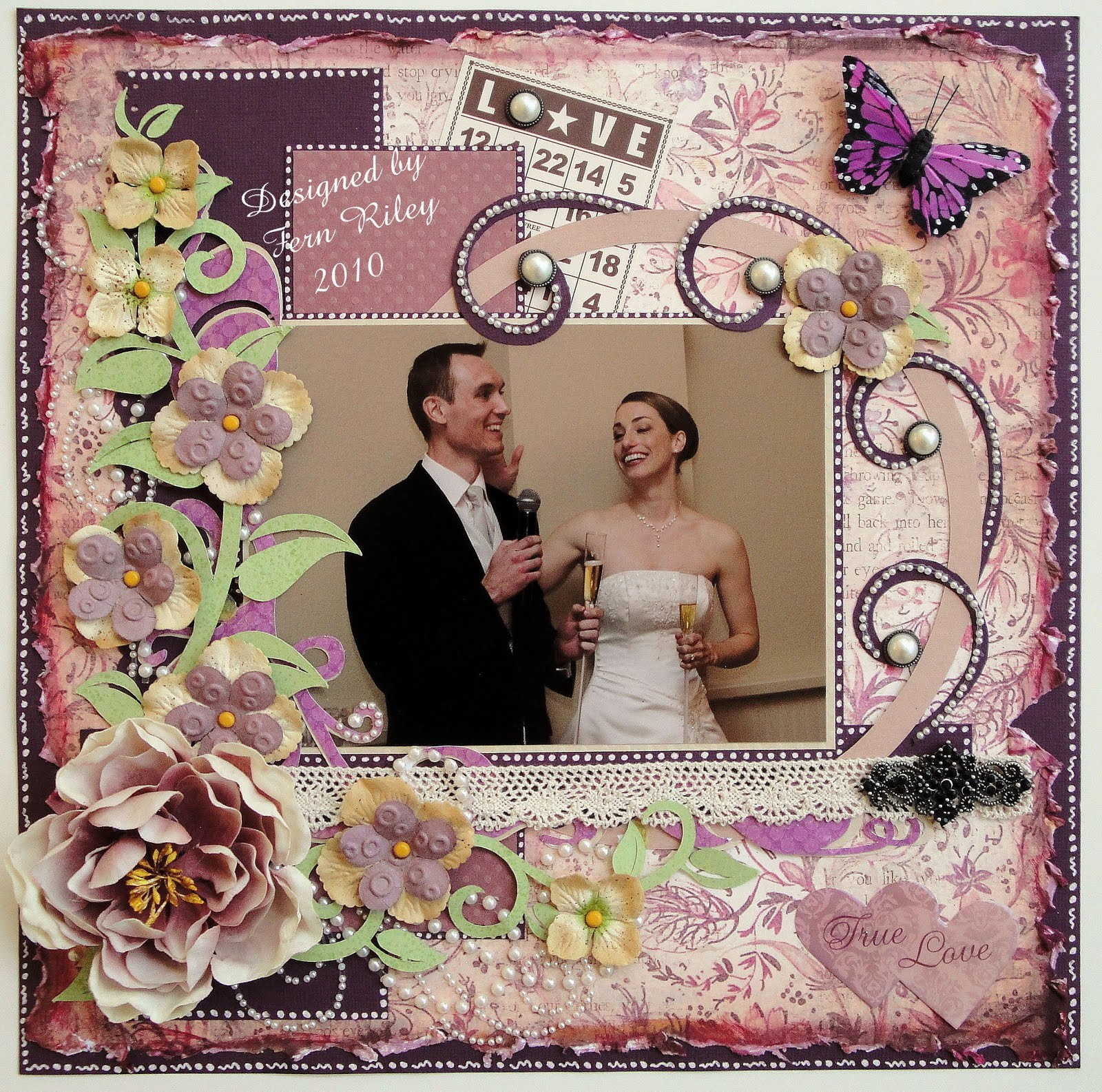 How to scrapbook wedding album - Amanda S Wedding Album
