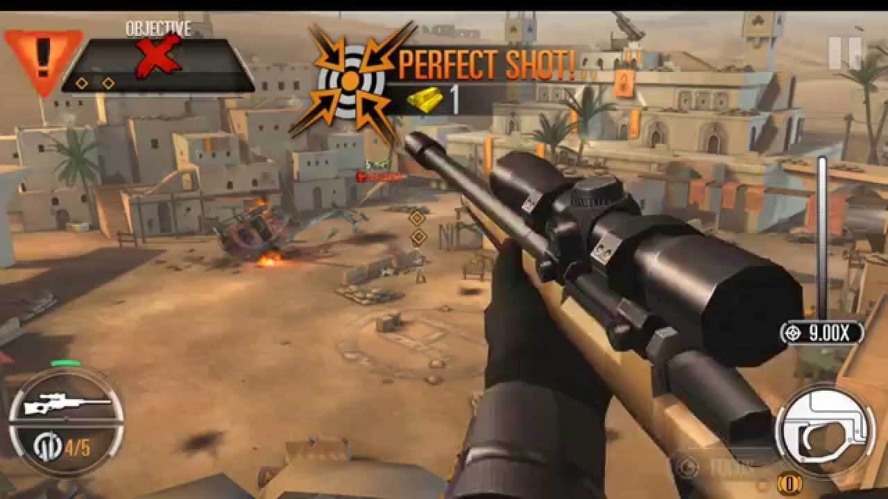 SNIPER X FEAT. JASON STATHAM Gameplay IOS / Android