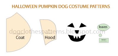 dog pumpkin costume cape patterns