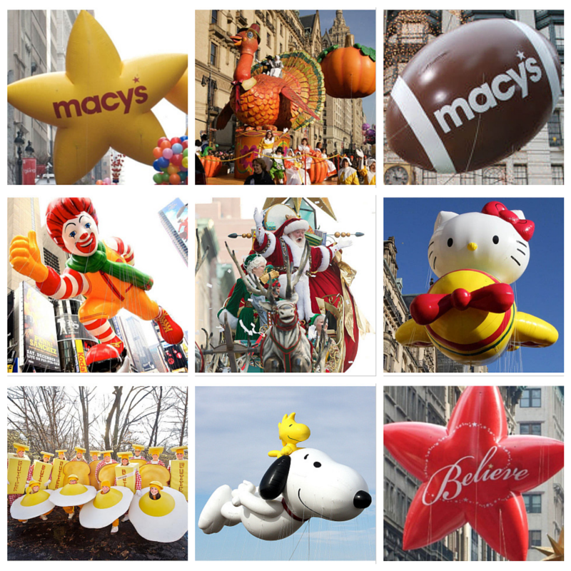 Thanksgiving Day Parade Bingo