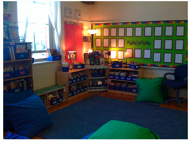 Classroom Walls Tip 3 Simple Color Scheme Clutter Free