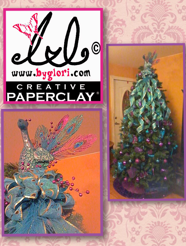 Creative Paperclay® air dry modeling material: Christmas Peacock ...