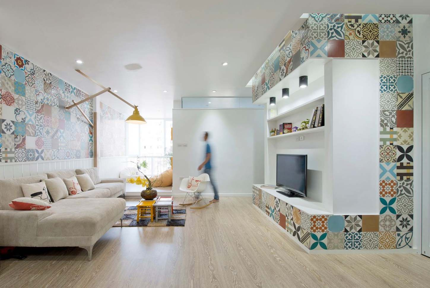 Piastrelle colorate per ht apartment by landmak architecture arc