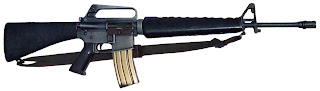M16-A1 automatic rifle Vietnam war standard issue