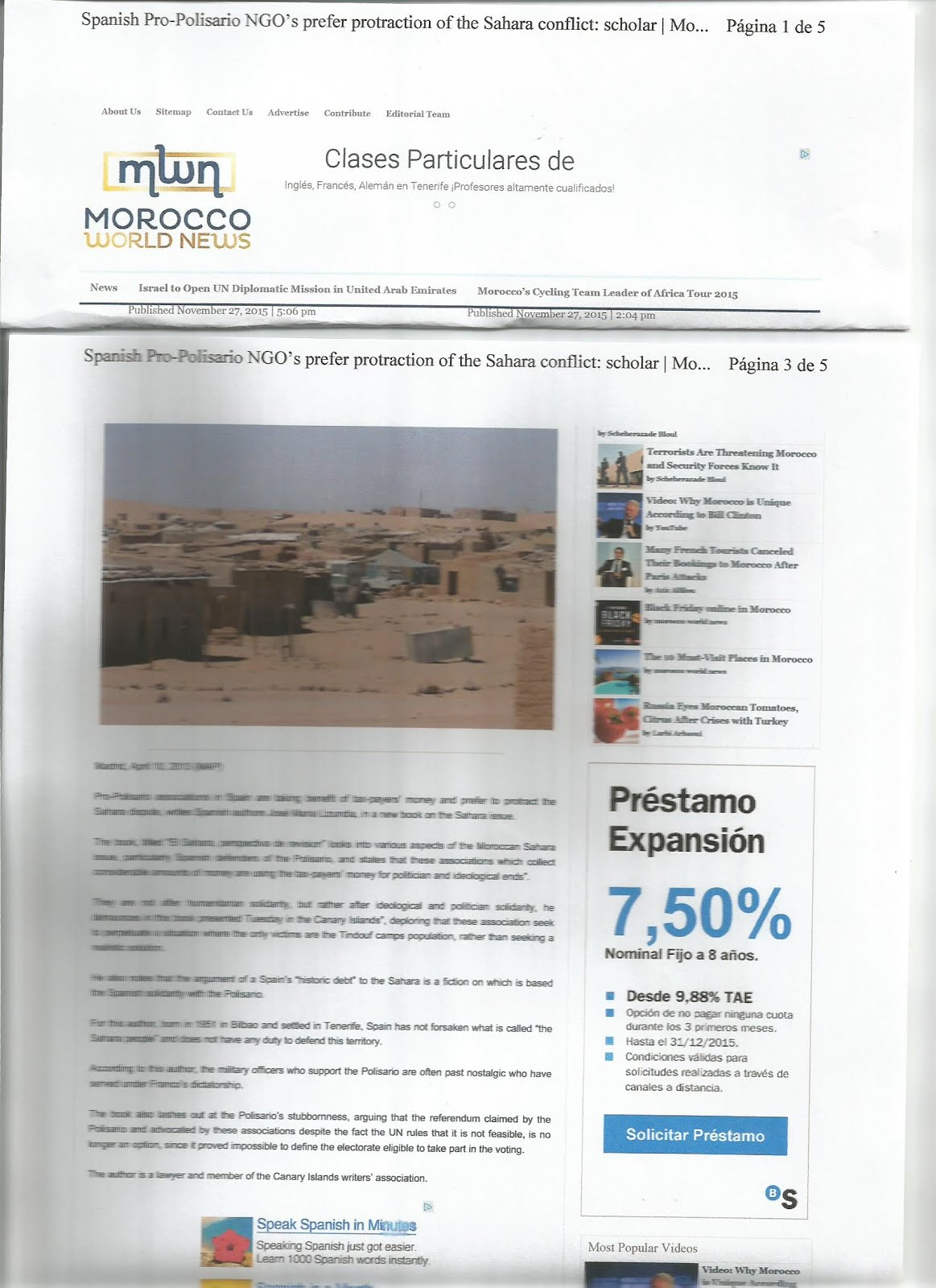MAROCCO WORLD NEWS