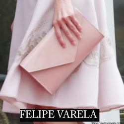 Queen Letizia Style FELIPE VARELA Bag and HUGO BOSS Dress