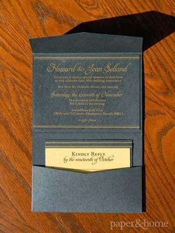 estilos de convites de bodas de ouro
