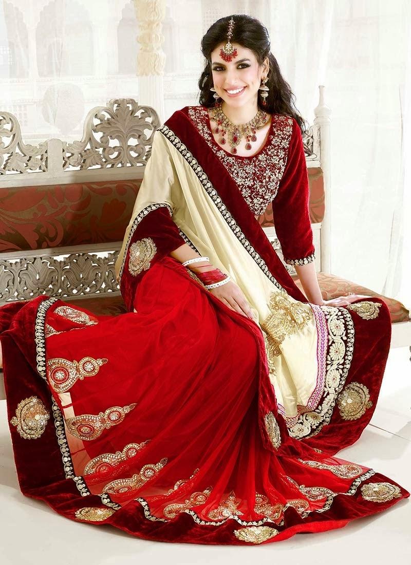 Red pakistani wedding dresses 2014