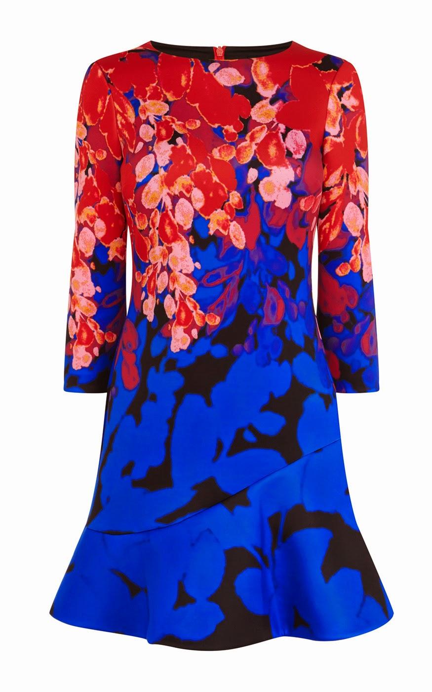 Karen Millen floral print scuba dress