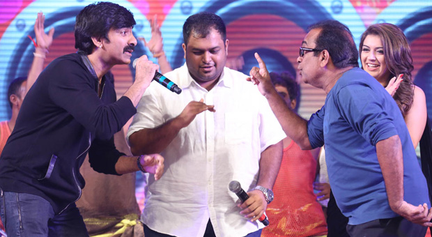 RAVITEJA SINGING ON STAGE PICS
