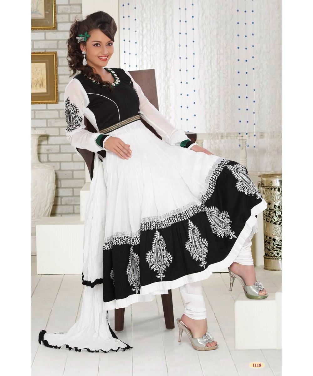 Stylish white dress wedding umbrella frocks churidar designs - Frocks Umbrella Frocks New Styles Of Umbrella Frocks Long Frocks Indian Fashion Dresses