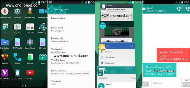 Custom Rom Beauty Lollipop V2 For Smartfren Andromax C3