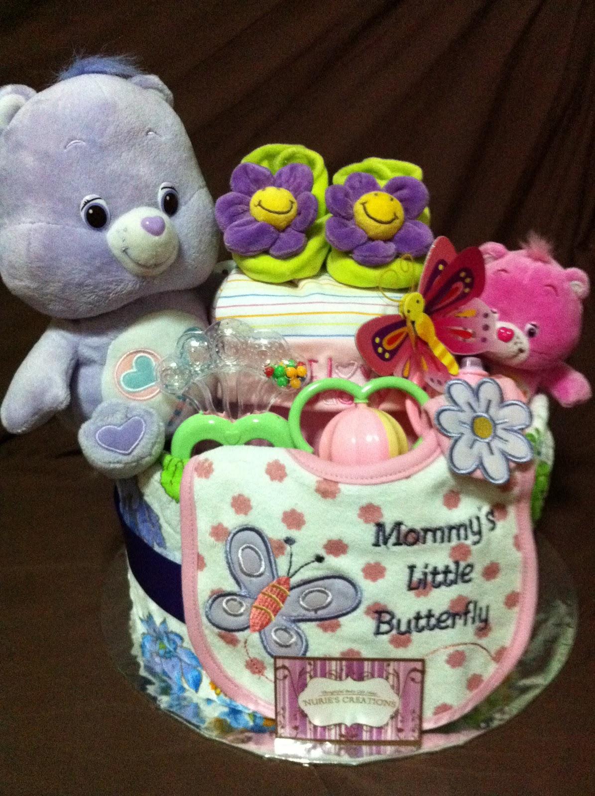 Care Bear Diaper Cake