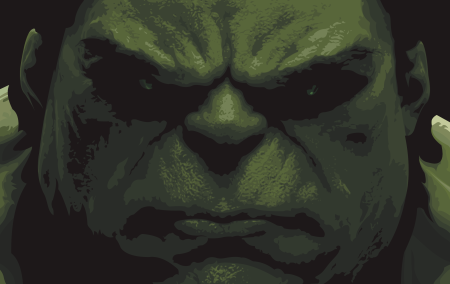 The Incredible Hulk Vector Poster