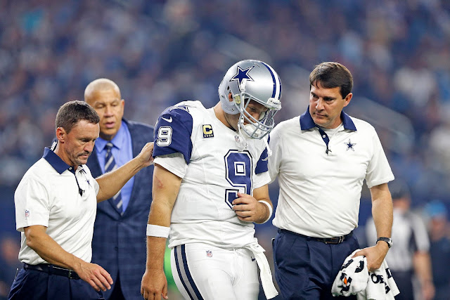 Tony Romo Blessure Dallas Cowboys