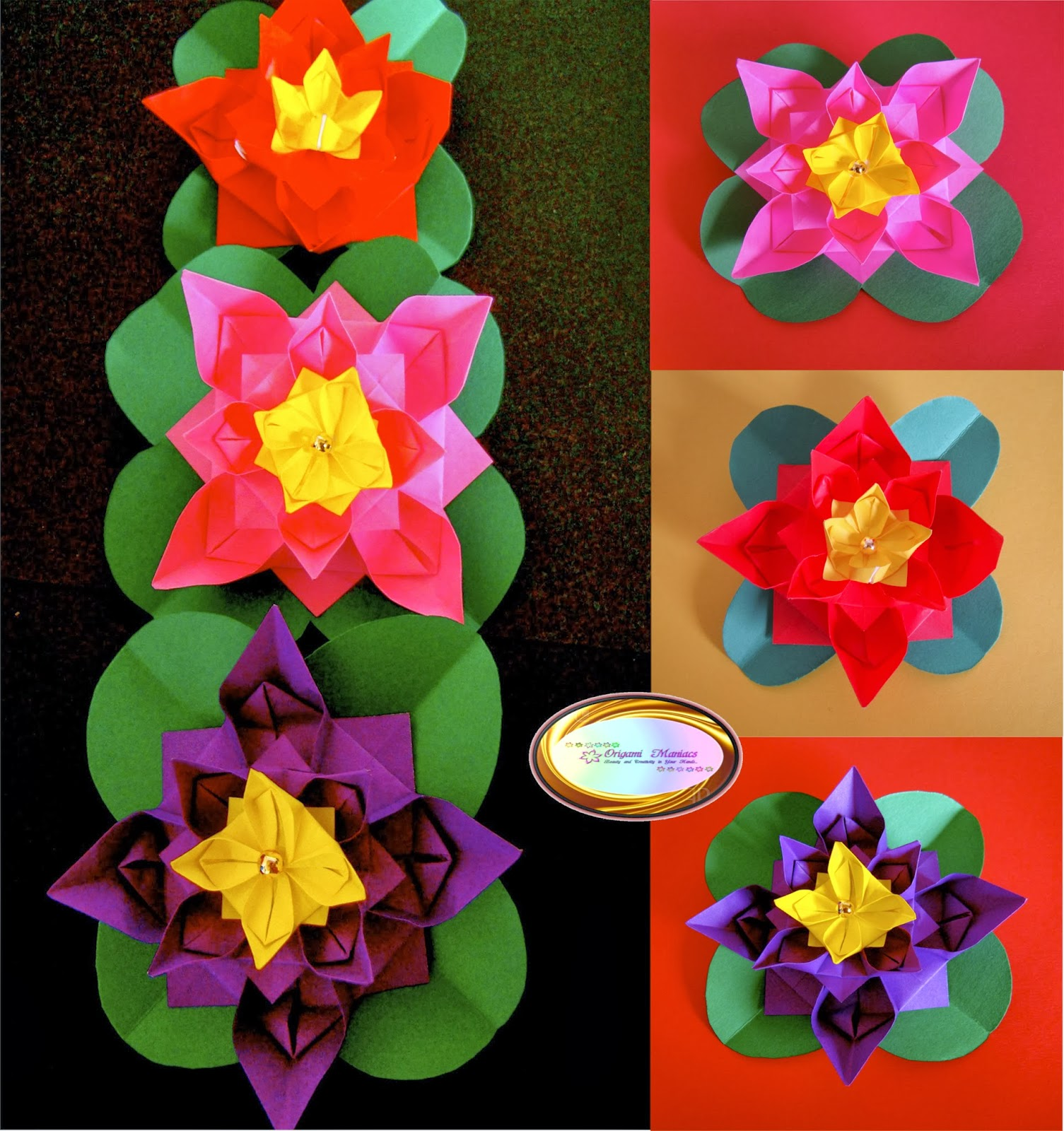 3d origami flowers instructions