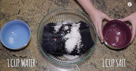 شاهد نتيجة وضع الملح على بنطلون جينز جديد