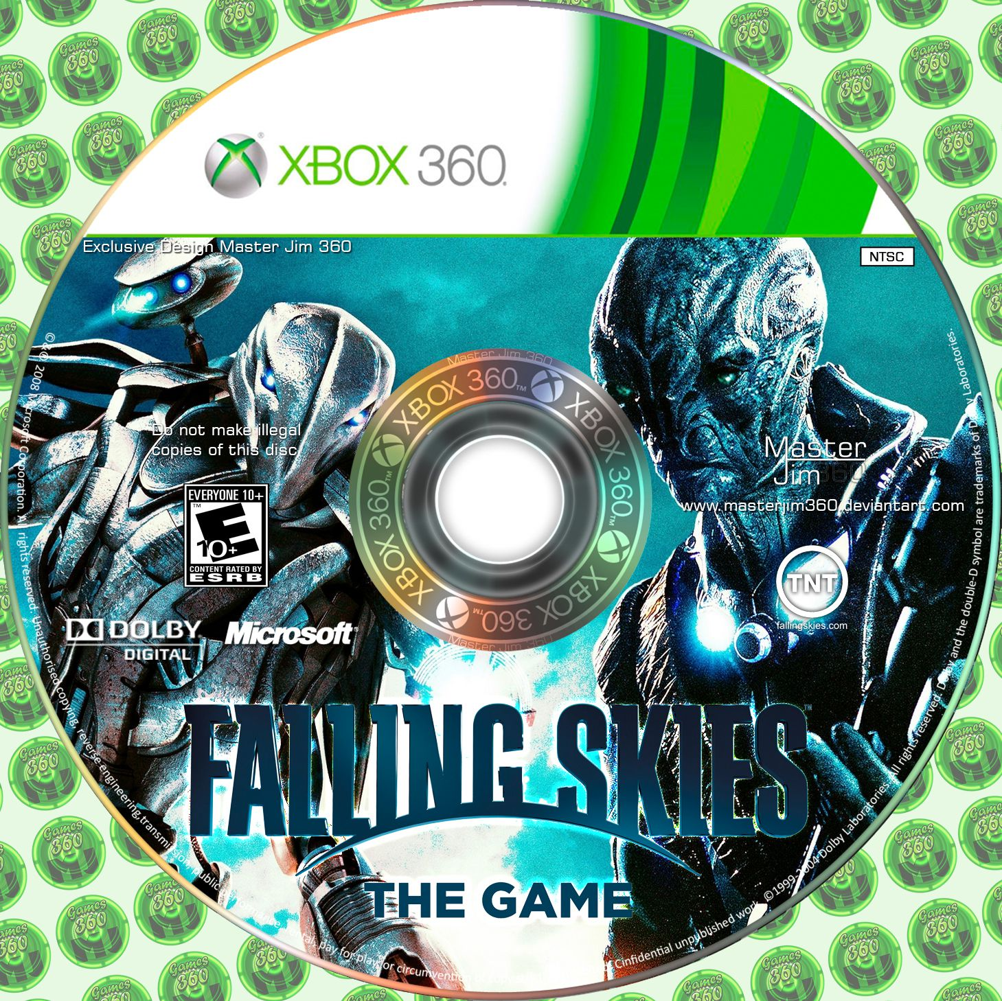 Label Falling Skies The Game Xbox 360